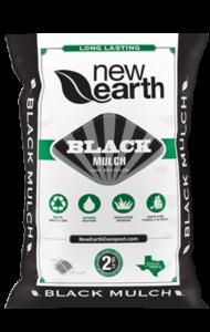 Black Mulch 2 cubic feet bag (black and green colors)