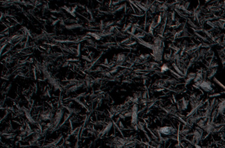 close up of black dyed mulch