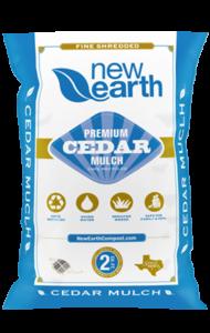Premium Cedar Mulch 2 cubic feet bag (light blue and gold colors)