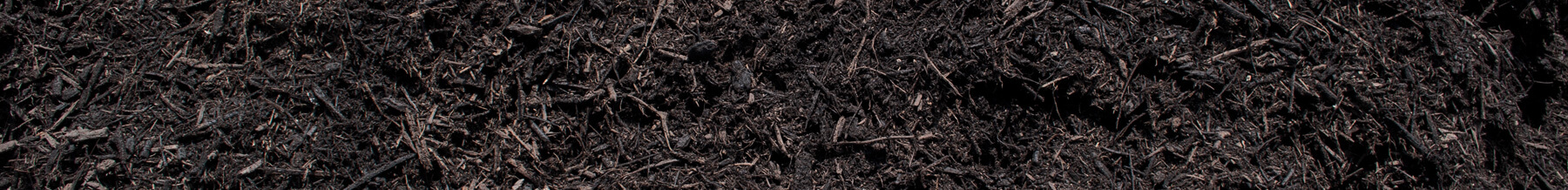 close up wide shot of composted mulch