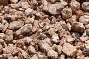 close up of decompressed granite