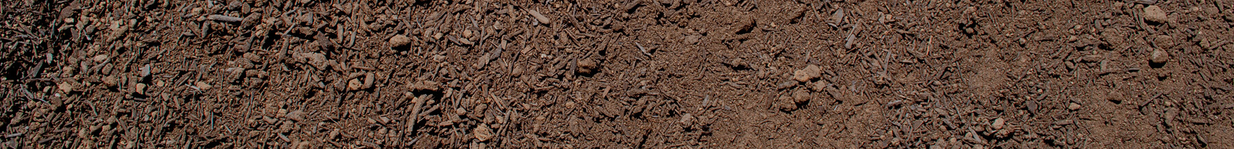 close up wide shot of enriched topsoil
