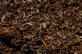 close up of fresh pine bark mulch