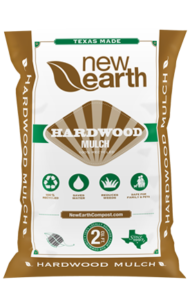 Hardwood Mulch 2 cubic feet bag (brown and green colors)