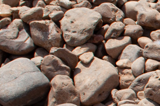 close up of large river rock