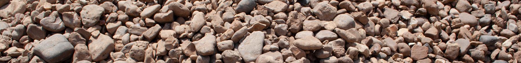 close up wide shot of large river rock