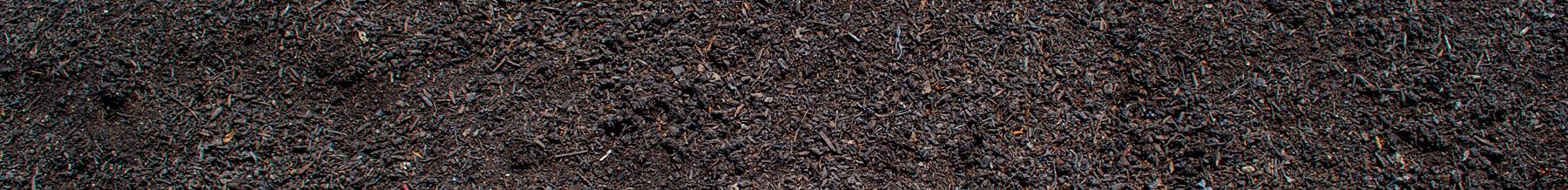close up wide shot of leaf mold compost
