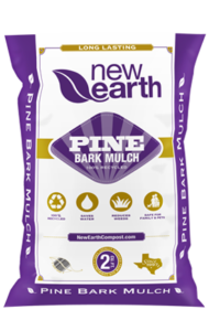 Pine Bark Mulch 2 cubic feet bag (purple and gold colors)