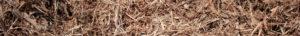 close up wide shot of single grind cedar mulch