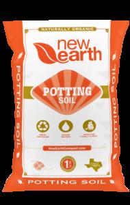 Orange and gold bag for Potting Soil